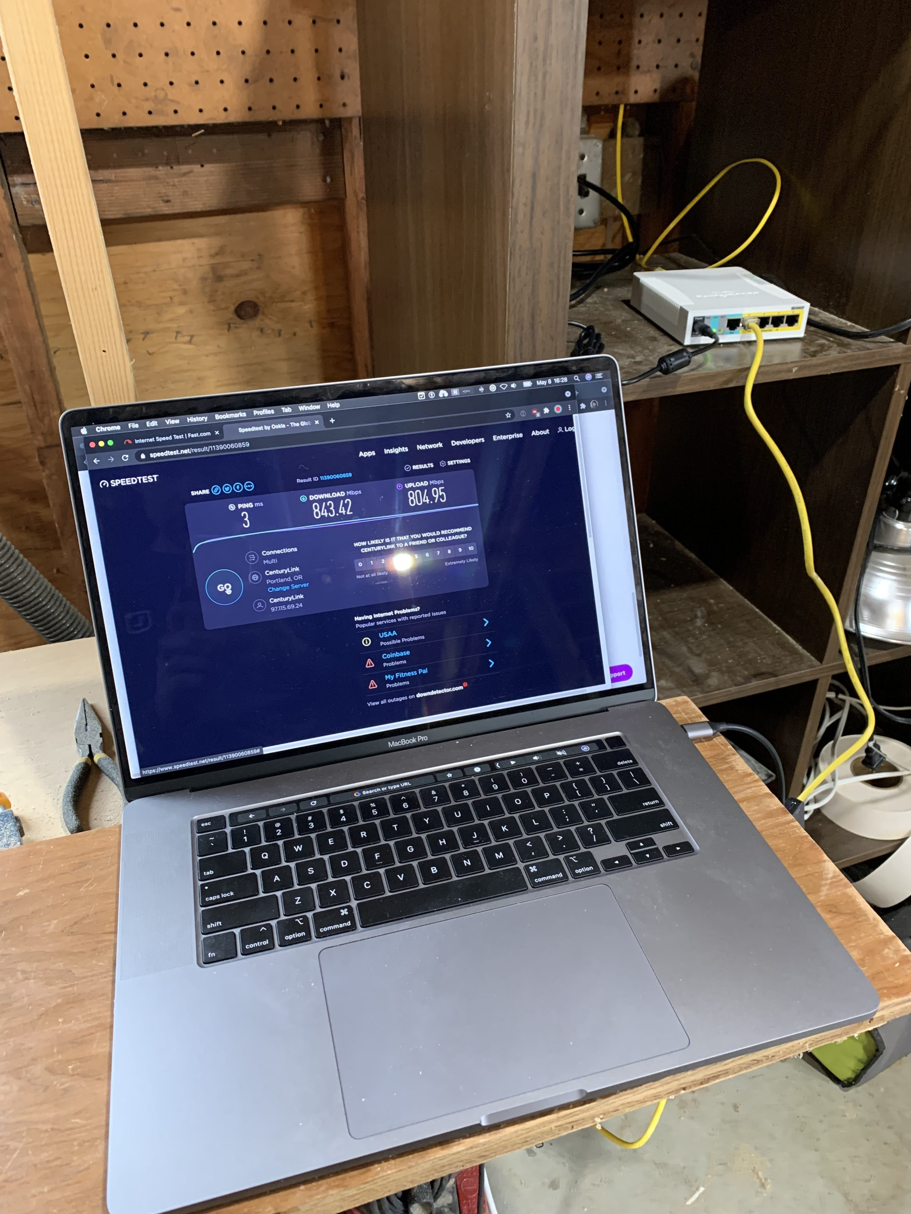 fast internet in shop